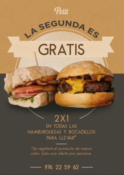 Segunda hamburguesa gratis